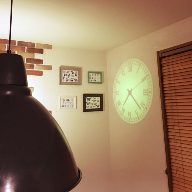 ミステリアスな光と影の時計!プロジェクタークロック