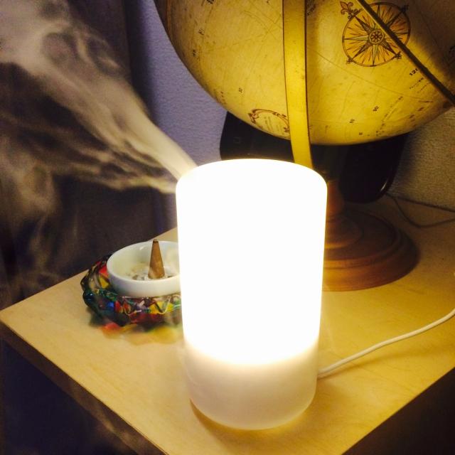香りとあかりに癒される♪無印良品のアロマディフューザー
