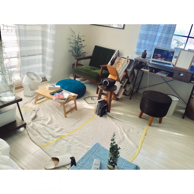 「19m2。手づくり家具がデザインする、ぬくもりのリラックススタイル」 by asuparamonikoさん