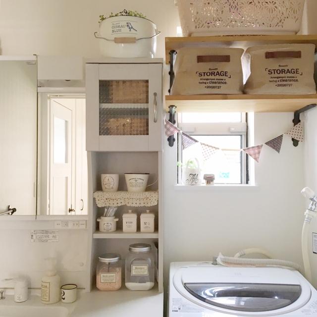 やっぱり自然な居心地が好き♡ナチュラルスタイルの洗面所