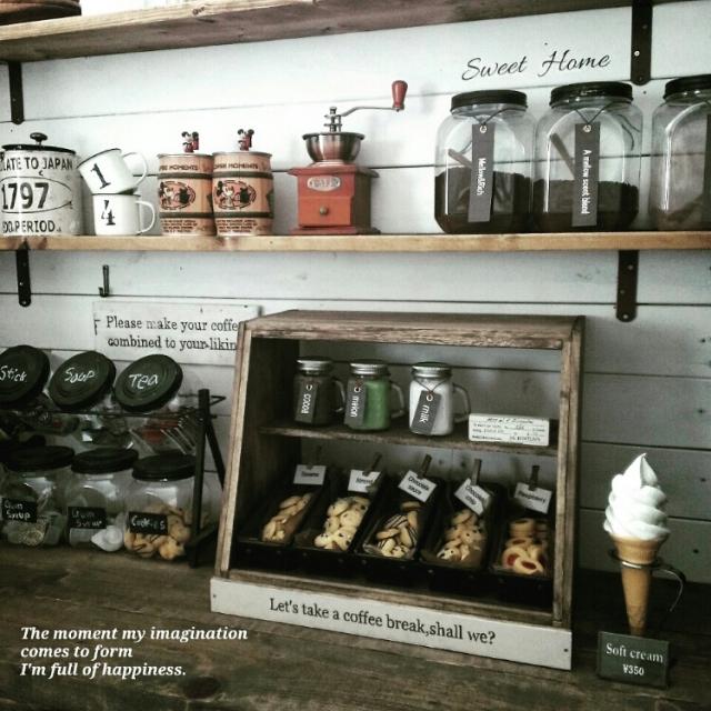 カフェ風インテリアにはマスト☆100均商品で作る人気の「ショーケース」 by chocolate-cafeさん