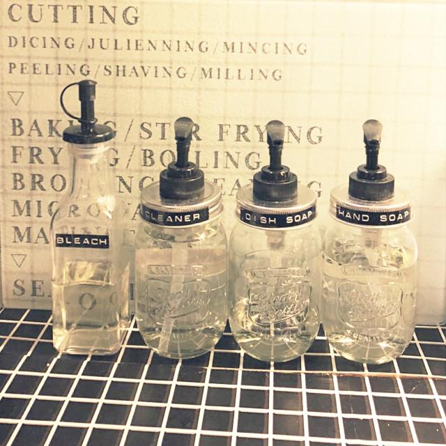 「生活感をオシャレに変える、ガラスジャーポンプボトル」 by mimimi-358さん