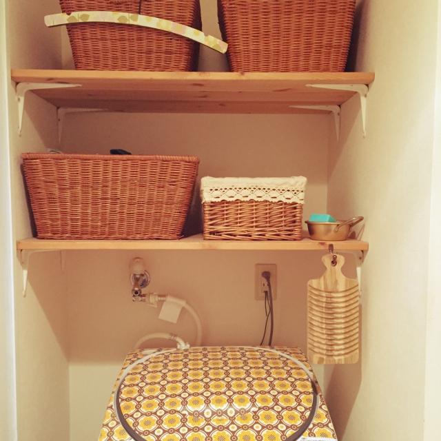 家事効率もアップしそう★洗濯機周りの収納アイディア