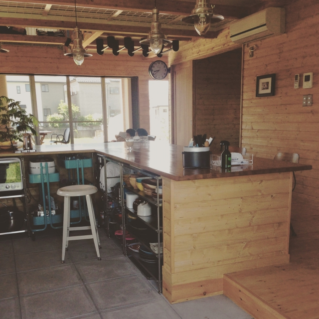 ⑤厨房のようなおしゃれ土間キッチン
