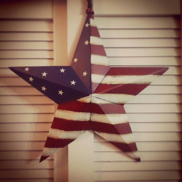 一目ぼれした星条旗柄のティンバーンスター
