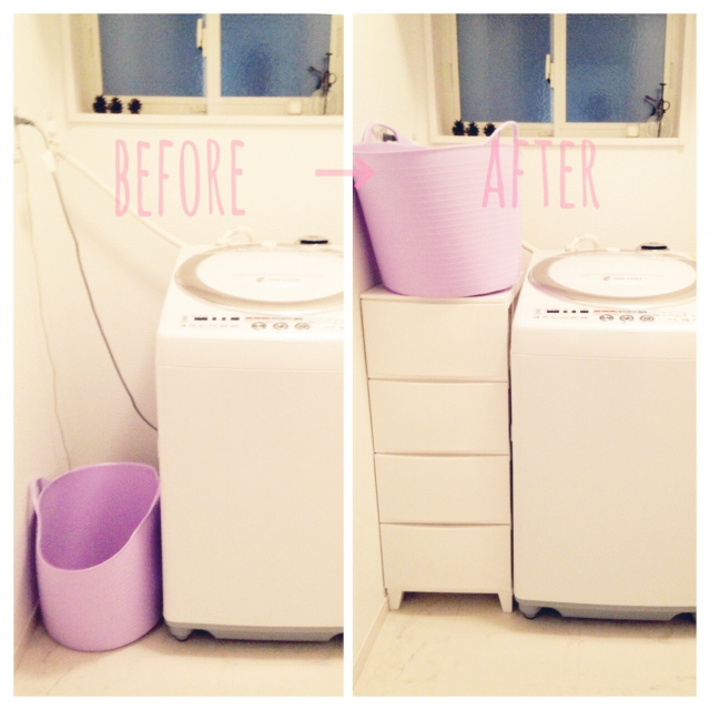 洗濯機の横