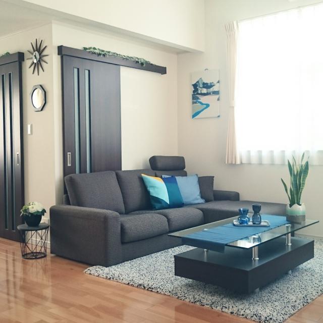 決め手はデザインとカラーと内部構造♡ニトリのソファー
