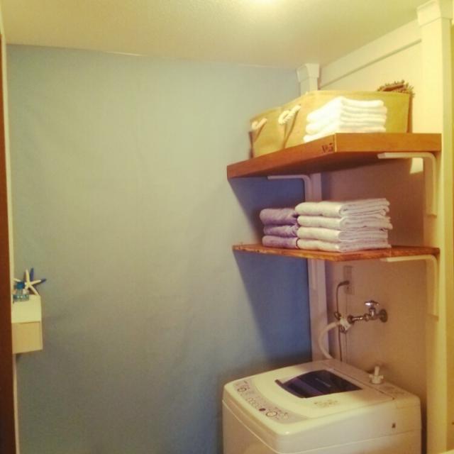 洗濯機上にも便利な棚