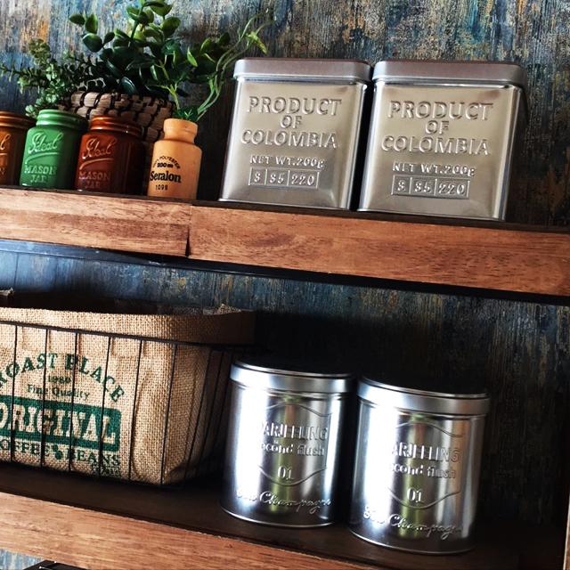 高見え必須のお買い得品!セリアのコーヒー缶と紅茶缶