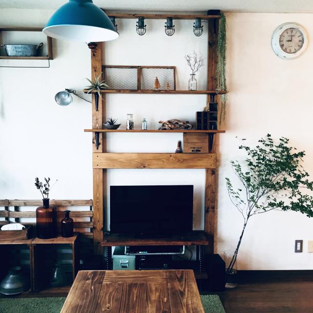 世界にたったひとつだけ♡リメイク&DIYで作るテレビ台