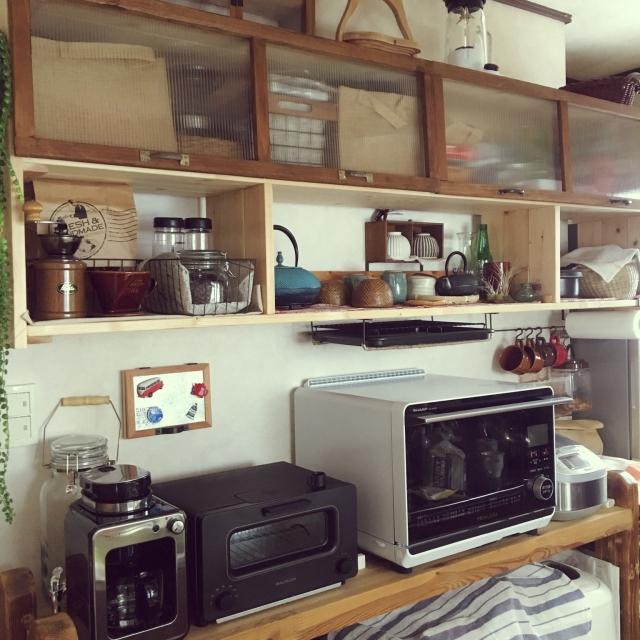 3STEPで簡単☆レンジ天板収納DIY by poncocoberryさん