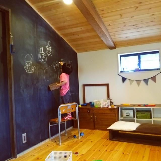 壁に落書き