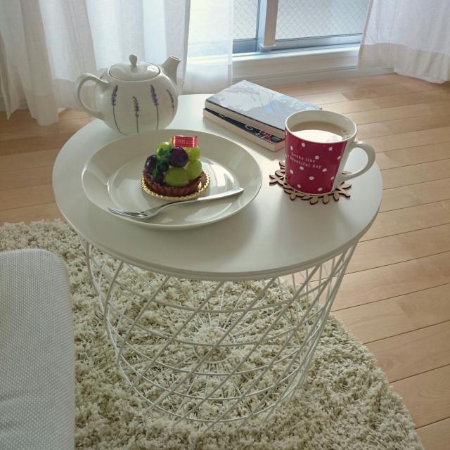 サイズ感が魅力♡IKEAのコーヒーテーブル&サイドテーブル