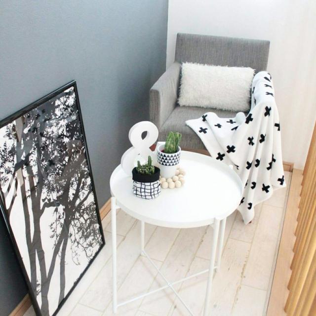 IKEAのサイドテーブルで、くつろぎの時間を♪