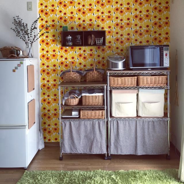 貼るだけ!壁紙で賃貸のキッチンを好きなスタイルに変身