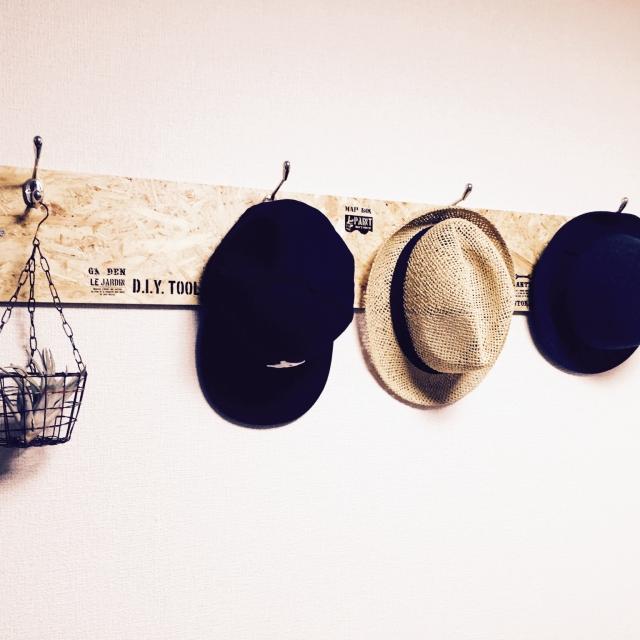 帽子はおしゃれにディスプレイ収納☆