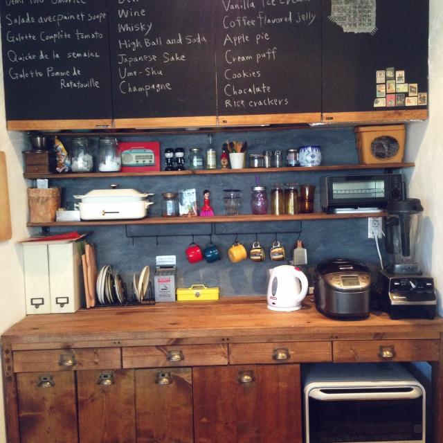 センスとアイディアいっぱいのキッチン