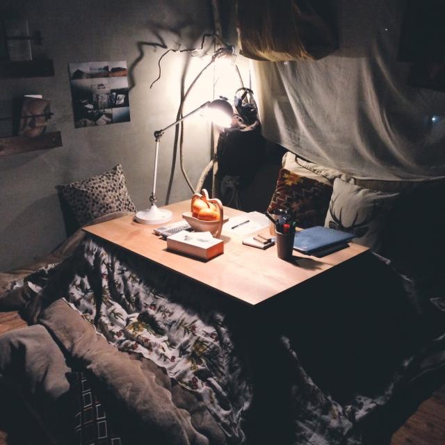 秘密基地のような雰囲気のこたつ部屋