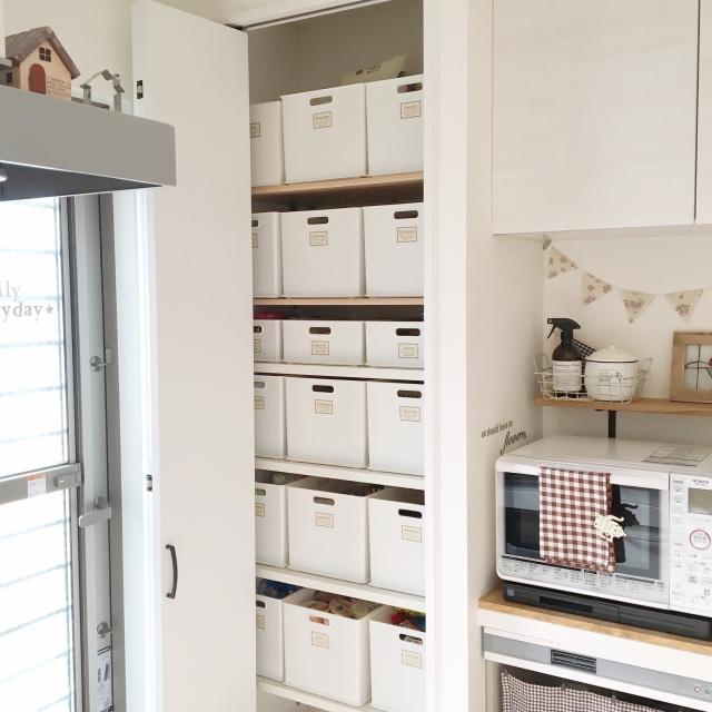 すっきりキッチンに!ニトリのインボックスで隠す収納