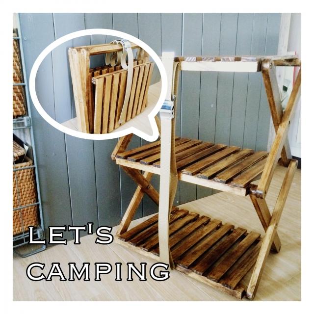 natsumikanさんのキャンプ用ラック