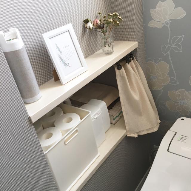 見栄えも使い勝手も良い◎トイレ掃除アイテムの収納方法