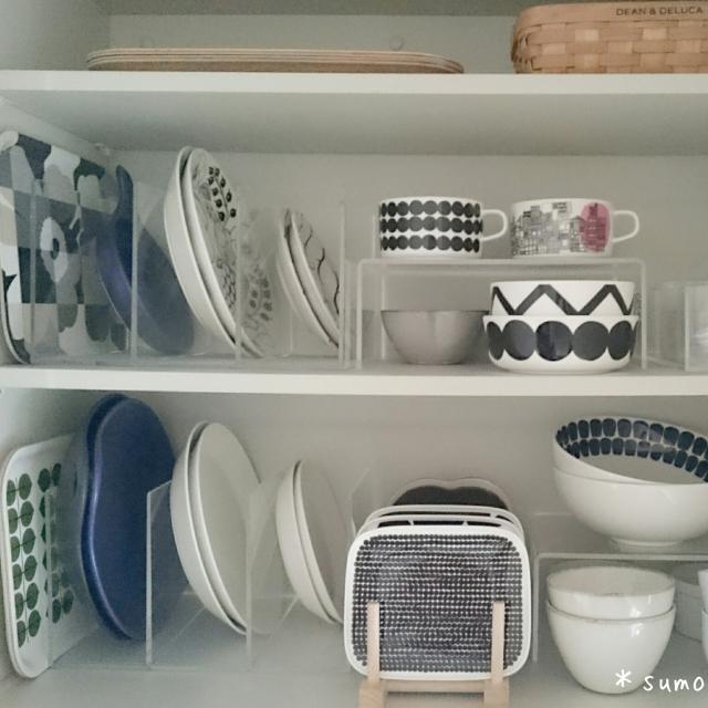 捨てずにスッキリ♪食器棚を格段に使いやすくする方法