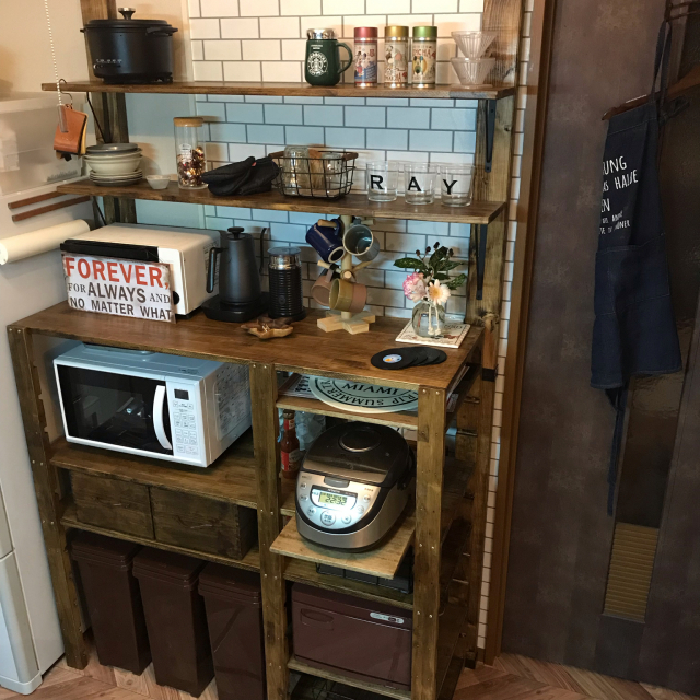 DIYで好みのテイストや空間を手に入れよう♡キッチンのDIY