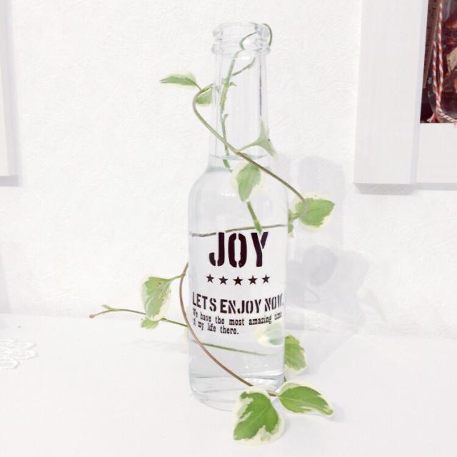 転写シール+植物のツル