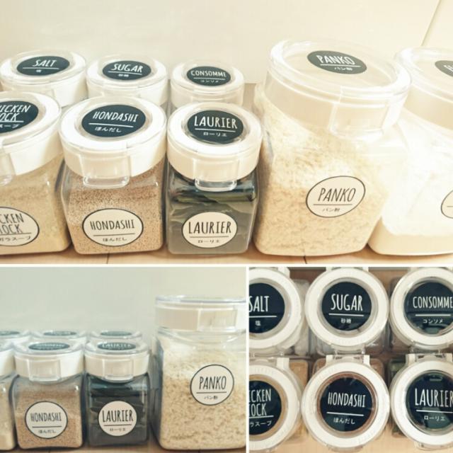 調味料の整理整頓のためのラベリングアイデア10