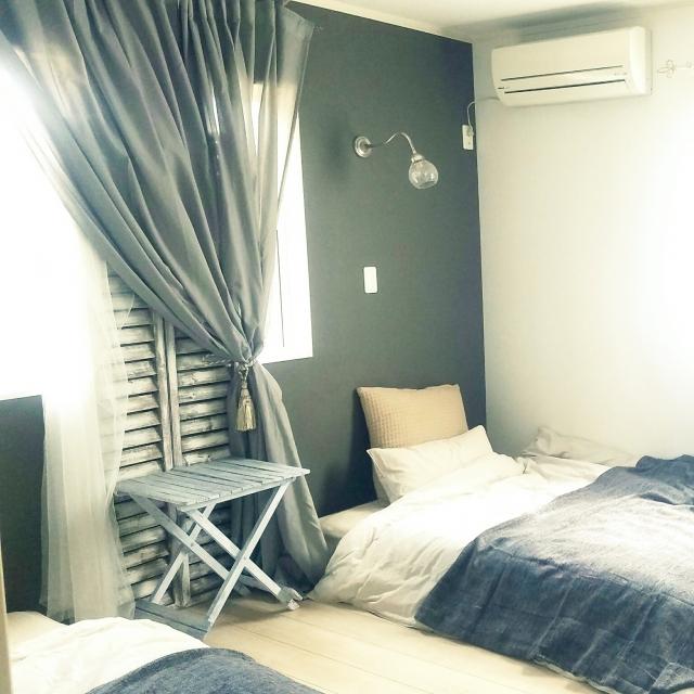 IKEAのカーテンで変身☆憧れの海外インテリアのような空間