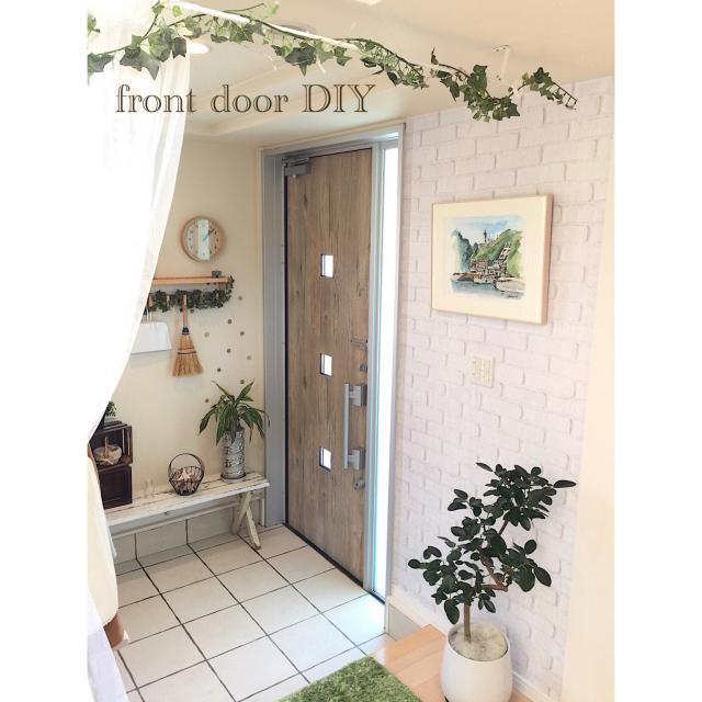 DIYで気軽にチャレンジ♪玄関をお気に入りの空間に大変身