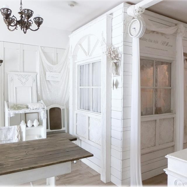 シャビーシックのとりこ♡白で作るフレンチテイストな部屋