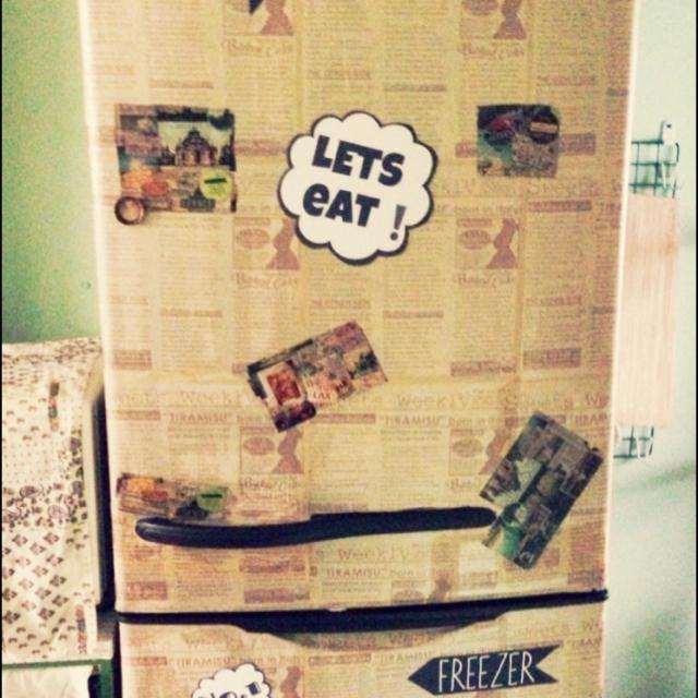 個性的な冷蔵庫に変身