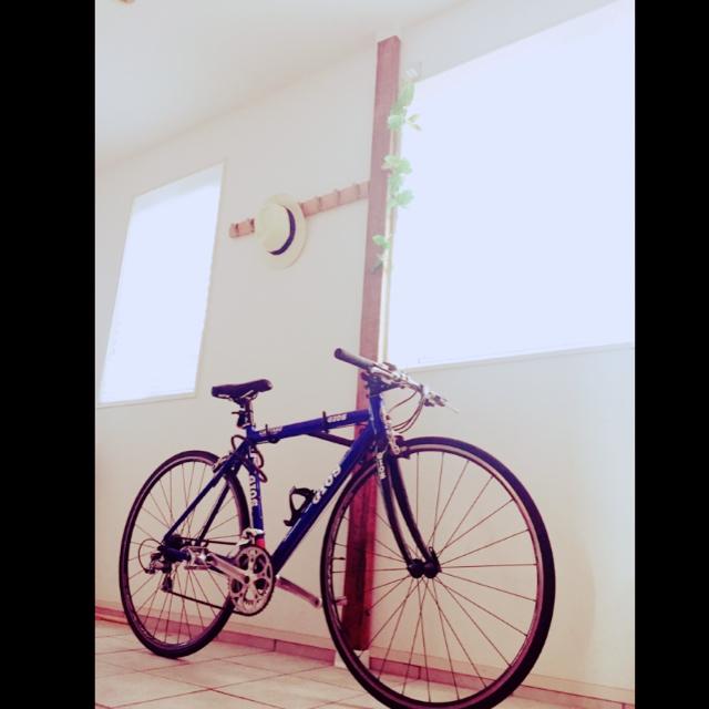 ディアウォールで自転車を固定