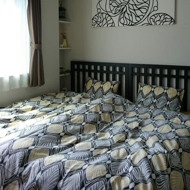 スタイリッシュなリラックス空間♡IKEAで作るベッドルーム