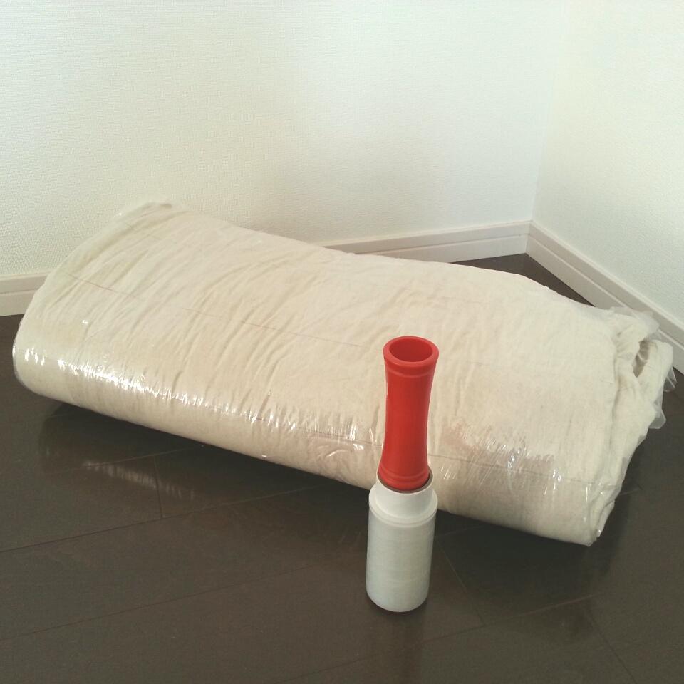 圧縮した布団の膨らみ防止アイディア