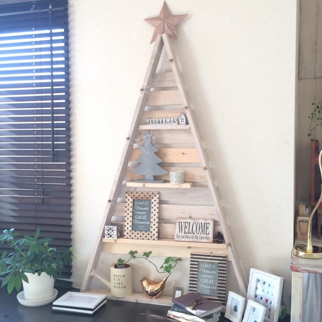 余材DIYでクリスマスツリーを楽しむ
