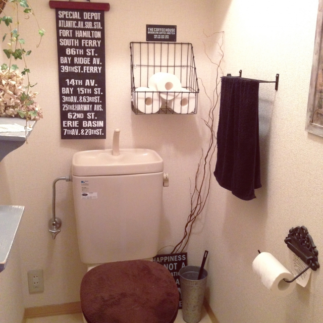 トイレに遊び心を♪ 自由に模様替えを楽しもう