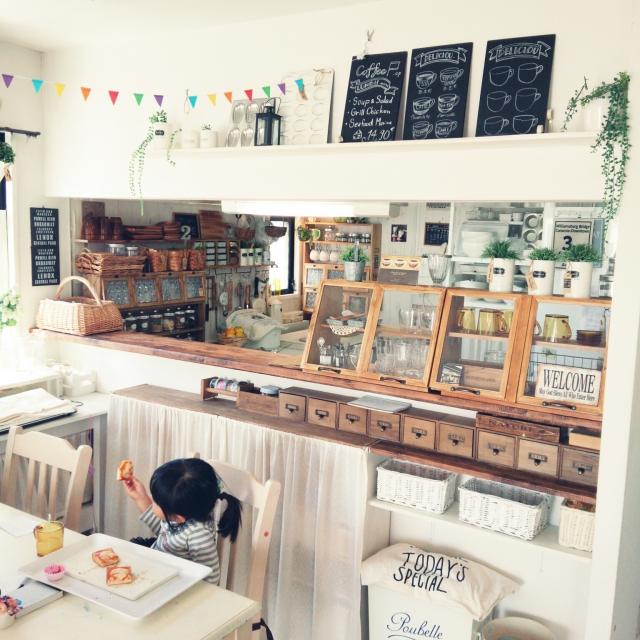 カフェ風カントリーキッチン