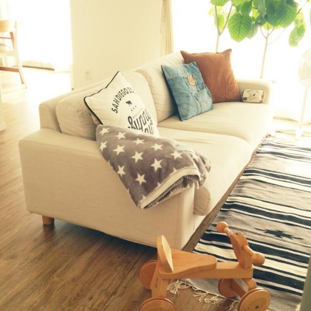 自分スタイルで好きに楽しむ。無印良品のソファのある部屋