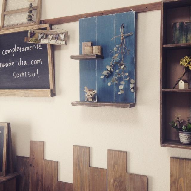 背板付きの飾り棚