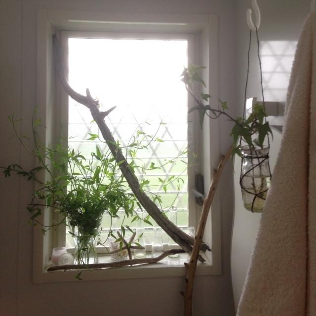 トイレの小窓を使って