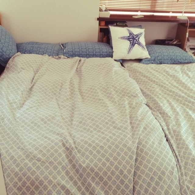 親子×ニトリコーデのベッド