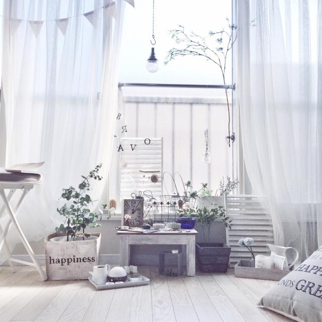 毎日癒されたい♪IKEAの白カーテンで居心地良い空間づくり