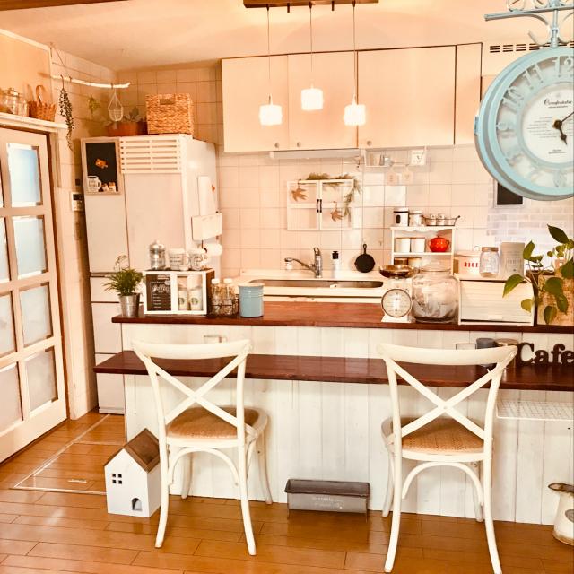 「いいことづくめのカウンターDIY♪理想のキッチンを自分の手で。」 by marimoさん