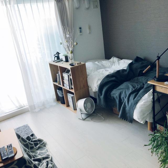 「27m2。家具でエリアを区切る、メリハリ1Kライフのつくり方」 by shiさん