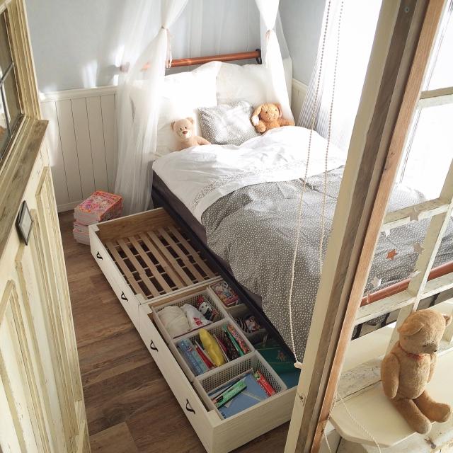 見逃せない収納力!ベッド下を上手に活用した収納実例集