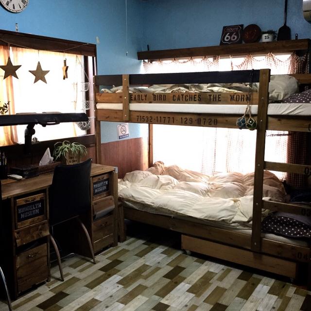 省スペースで経済的!子供の自立心も育める♪2段ベッドのあるお部屋
