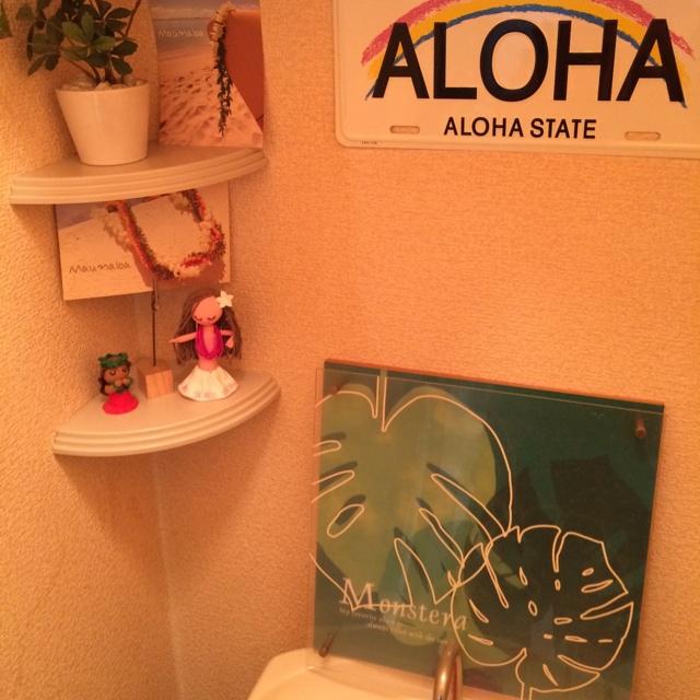 フラガールとハワイアン雑貨を飾ってみよう