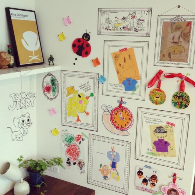 全て宝物♪子どもの絵や工作などを素敵に飾っちゃおっ